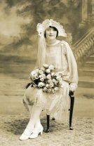 Girl in 1920s Wedding Dress
