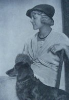 Lady in Cloche Hat with Dog