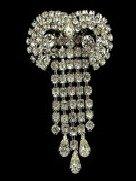 Art Deco Jewelry - Rhinestone Brooch