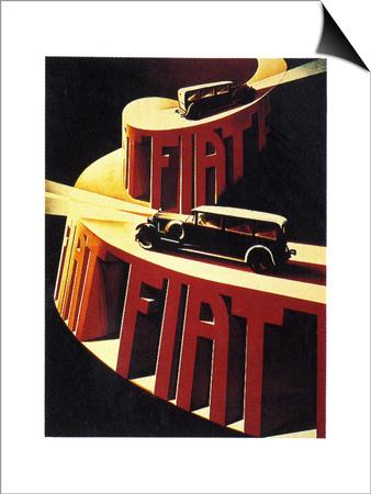 1930s Fiat Car Advertisement