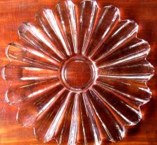 Pink Depression Glass Plate, Art Deco Glass Plate