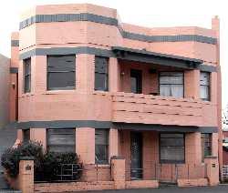 art deco pink house, pink house Tasmania