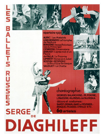Poster for Ballet Russes with Diaghileff 1927