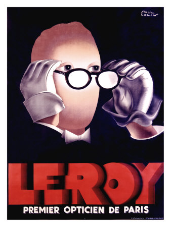 Leroy Optician Poster by Paul Colin