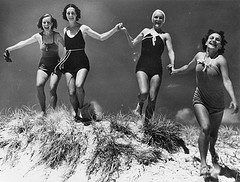 Old fashioned bathing suits 1935
