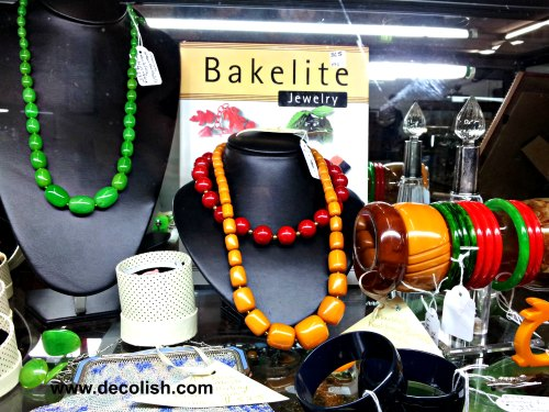 Bakelite Jewelry Display at Mittagong Antiques Centre