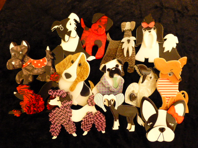 Erstwilder Jewellery - Dog brooches