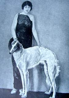 Queen Alexandra with Borzoi 1935