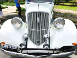 Front of Deco Style Vintage Car