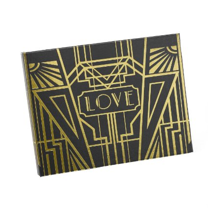 Black and Gold Art Deco Guest Book