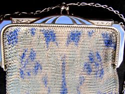 1920s Whiting and David Mesh Purse