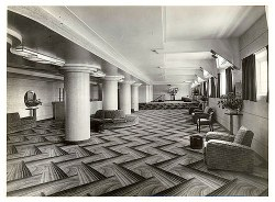 Art deco zigzag patterned floor