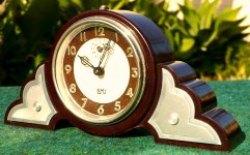 Bakelite Clock with Art Deco Style