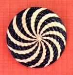 Black and White Celluloid Swirl Button