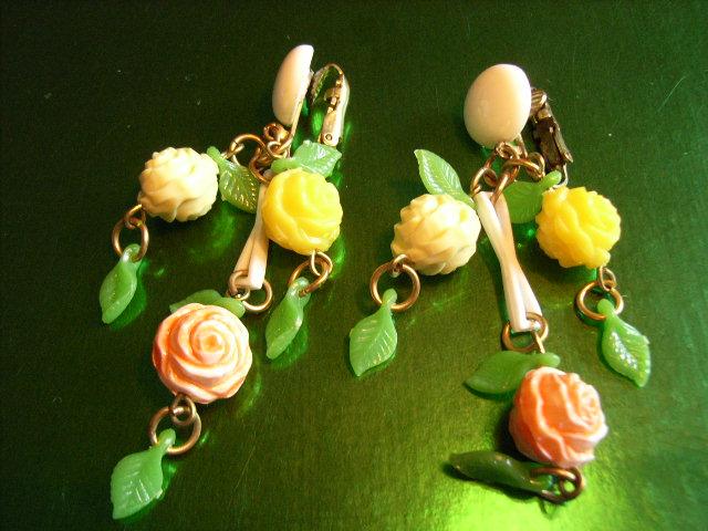 Celluloid Flower Earrings