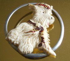 Celluloid Scottie Pin