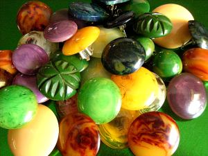 Pile of Multi-coloured Bakelite Earrings