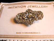 Czech Brooch on Card