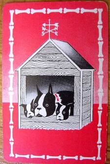 French Bulldog on an Art Deco Playing Card