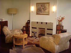 Geffrye museum Art Deco living room
