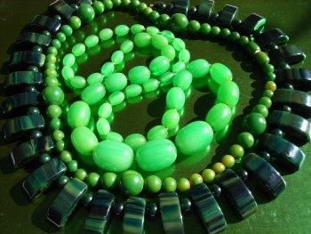 Green Bakelite Necklaces