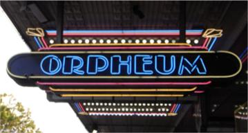 Orpheum Sign from Cinema in Sydney