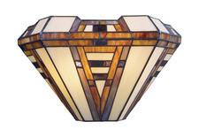 American Art Deco Tiffany Style Sconce by Landmark