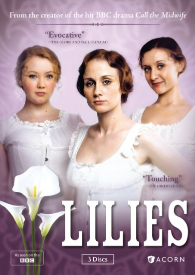 Lilies DVD Cover Showing 3 1920s Young Ladies in White