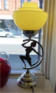 Art Deco Chrome Naked Lady Lamp