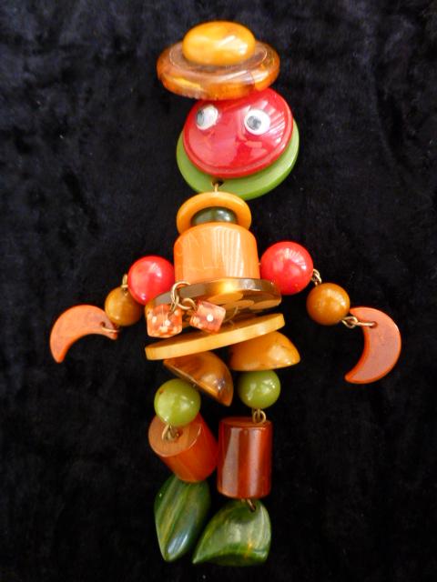 Jan Carlin Crib Toy Brooch with Dice