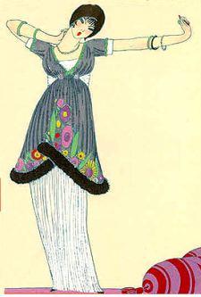 Paul Poiret, Lampshade Dress, Gazette du Bon Ton