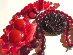 Red Bakelite Jewelry
