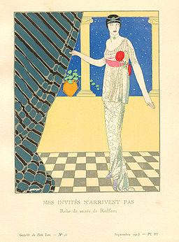 Redfern Dress Illustrated By Francesco Javier Gose in Gazette du Bon Ton