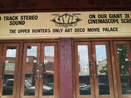 Doors of Scone's Art Deco Theatre