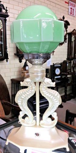 Art Deco Seahorse Lamp