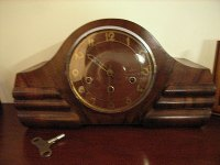 Art Deco wooden Clock