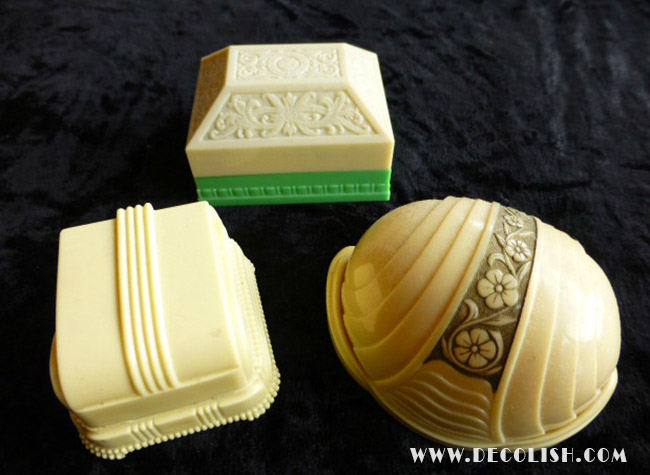 Art Deco Ring Boxes in Early Plastics