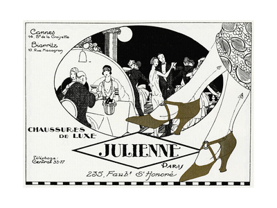 Luxury 1920s Shoes by Julienne - Advertising Print