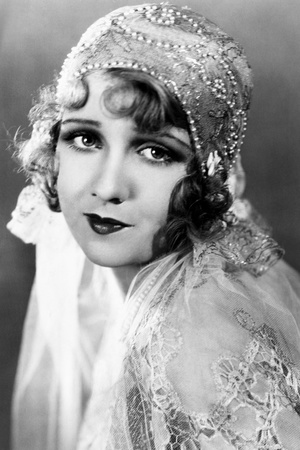 Anita Page in a White Beaded Wedding Cloche