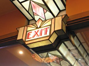 Art Deco Exit Sign