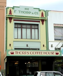 Art Deco Building - Napier Coffee House