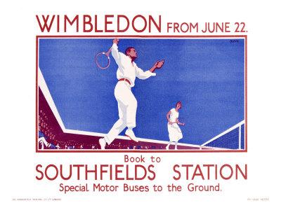 Transport Poster - Wimbledon