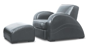 Art Deco black streamlined chair