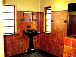 Man's Art Deco bathroom