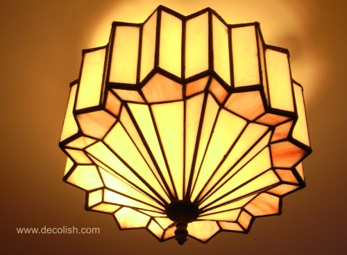 Art Deco Ceiling Chandelier From Hayden Orpheum