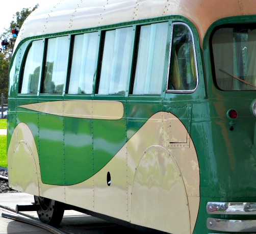 1930s Tram with Art Deco Style Motif