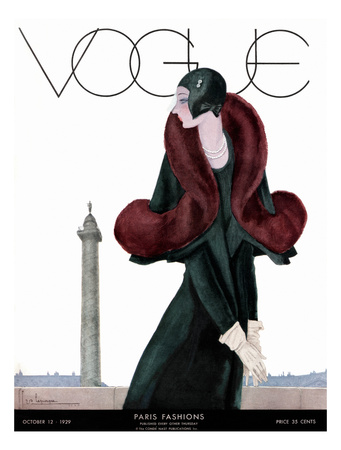Cover of Vogue 1929 - Woman in Cloche Hat