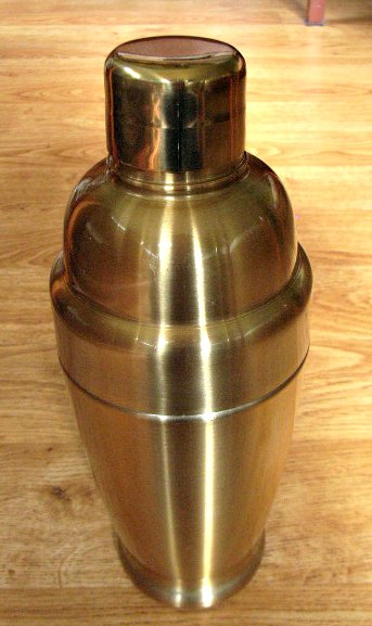 Brass Coloured Art Deco Cocktail Shaker