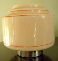 Art Deco stepped lampshade