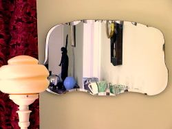 Mirror with Bakelite lamp